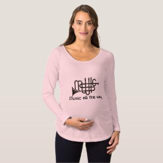 Musik-langer Hülsen-MutterschaftsT - Shirt