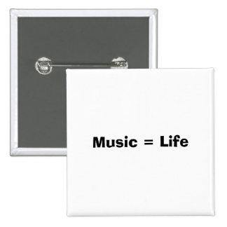 Musik Leben Anstecknadelbuttons