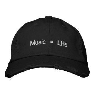 Musik = Leben Bestickte Baseballkappen