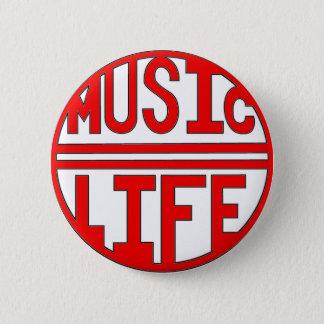 Musik- = Lebenrot Runder Button 5,1 Cm