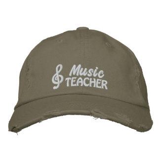 Musik-Lehrer-gestickte Kappe Besticktes Cap