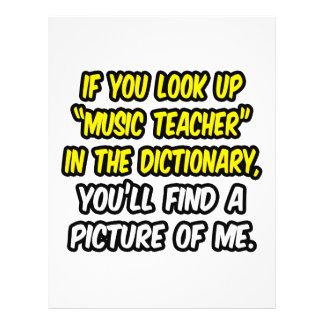 Musik-Lehrer im Wörterbuch… mein Bild 21,6 X 27,9 Cm Flyer