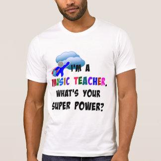 Musik-Lehrer-Superheld T-Shirt