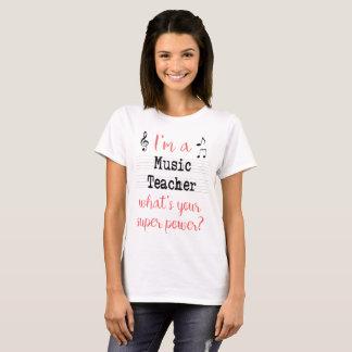 Musik-Lehrer-SuperPower-Shirt - Licht T-Shirt