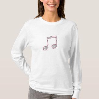 Musik-Lehrer-T-Shirt - rosa u. schwarze doppelte T-Shirt