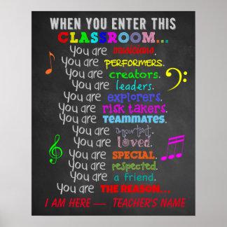 Musik-Lehrer - wenn Sie dieses Poster