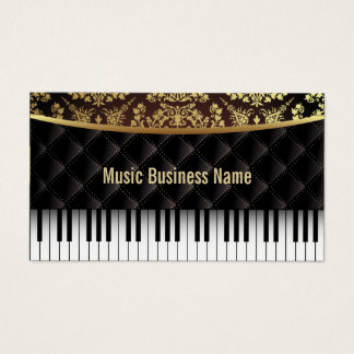 Musik-Luxusdiamant-Muster-Klavierstunden Visitenkarte
