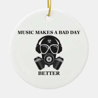 Musik macht meinen Tag Keramik Ornament
