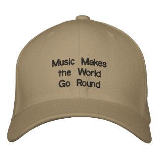 Musik Makesthe WorldGo rund Bestickte Baseballkappe