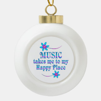 Musik mein glücklicher Platz Keramik Kugel-Ornament