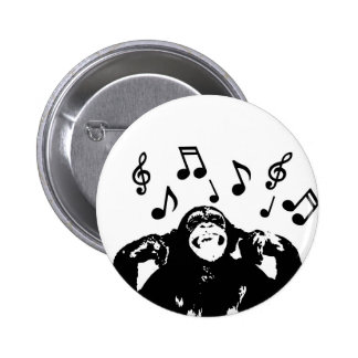 Musik monkeymonkey runder button 5,7 cm