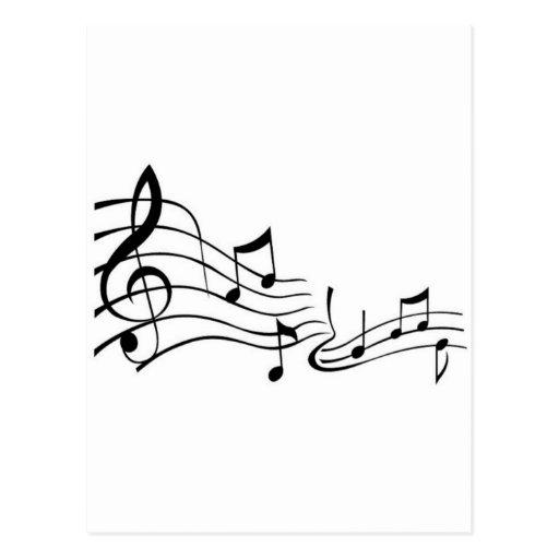 Musik ,(Music) Postkarte
