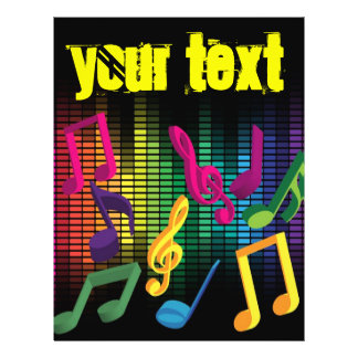 Musik-Party-Hintergrund Custom Flyer