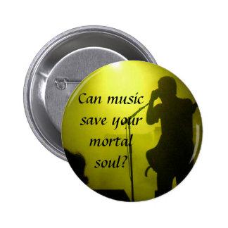 Musik rettet runder button 5,1 cm