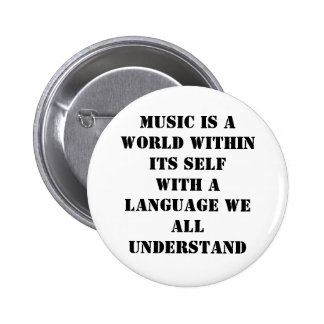 Musik Runder Button 5,1 Cm