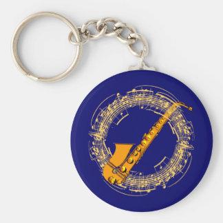 Musik Saxophon music sax saxophone Schlüsselanhänger