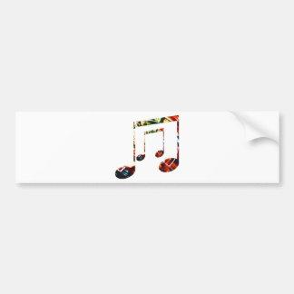 Musik-Schein-Rot Autoaufkleber