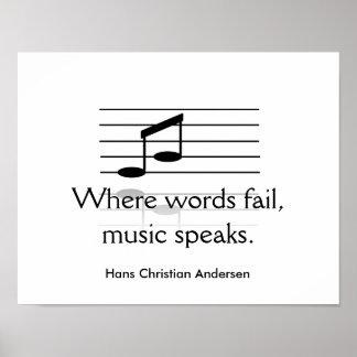 Musik spricht - Kunstdruck Poster