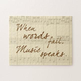 Musik spricht puzzles