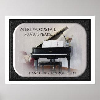 Musik spricht - QuotePrint - Hans Christian Poster