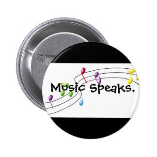 Musik spricht runder button 5,1 cm