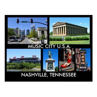 Musik-Stadt USA Nashvilles Tennessee Postkarte