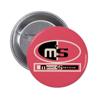 Musik-Stations-Knopf Runder Button 5,7 Cm