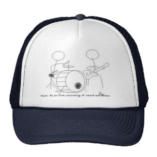 Musik Stickman Hut Kappe