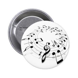 Musik-Strudel Anstecknadel