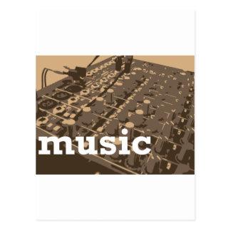 Musik-Studio-Mischer Postkarte