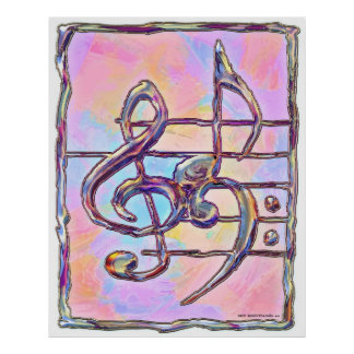 Musik-Symbole, Druck 3 Poster