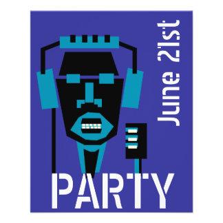 Musik, Tanz-Partyschablone Flyerdruck