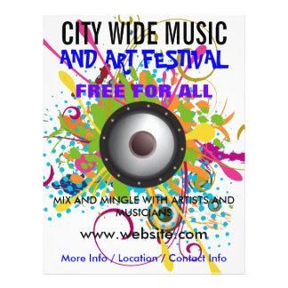 Musik-und Kunst-Festival-Flyer