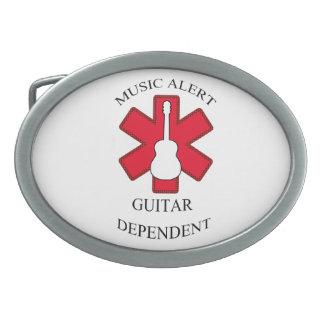 Musik-wachsame Akustikgitarre Ovale Gürtelschnallen