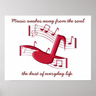 Musik wäscht weg - Plakat