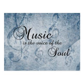 Musik wenn die Stimme des Souls Postkarte
