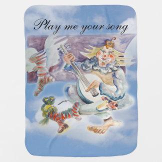 Musik-Zeit in den Wolken Baby-Decken