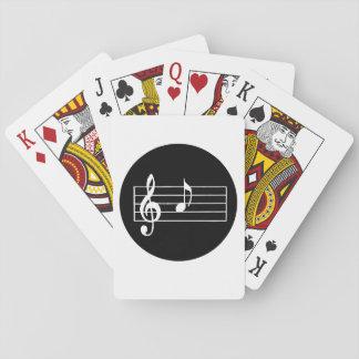Musikalische Anmerkung A Spielkarten