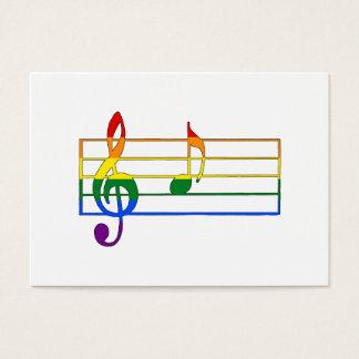 """Musikalische Anmerkung des Regenbogen-""""A"""" Visitenkarte"""