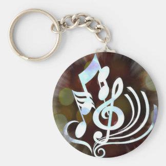Musikalische Anmerkungen Keychain Standard Runder Schlüsselanhänger