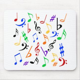 Musikalische Anmerkungen Mousepad - Musik mehrfarb