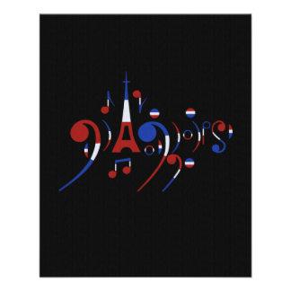 Musikalische Anmerkungen Paris 11,4 X 14,2 Cm Flyer