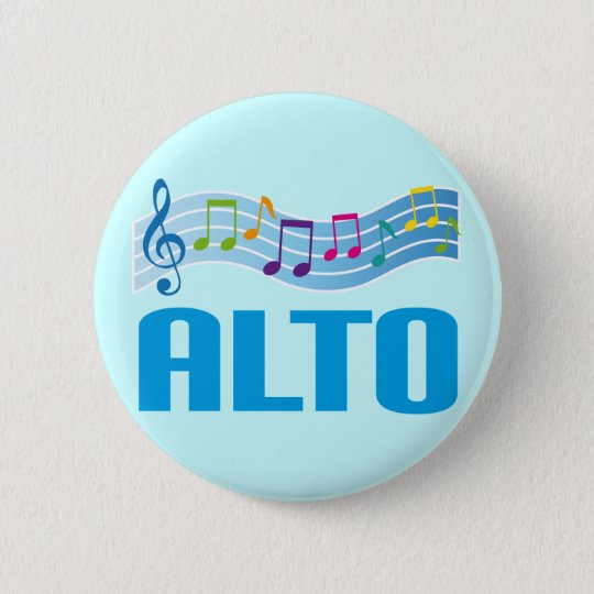 Musikalische Anmerkungs-Alt-Sänger-Chor-Geschenk Runder Button 5,7 Cm