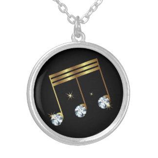 Musikalische Anmerkungs-diamante de Versilberte Kette