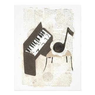 Musikalische Anmerkungs-Flyer 21,6 X 27,9 Cm Flyer