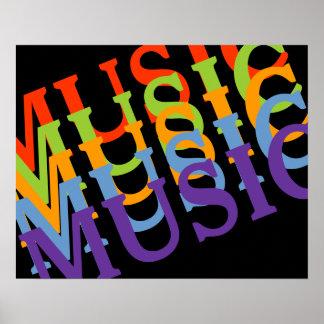 musikalische bunte Wände Poster