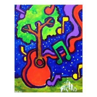 Musikalische Grüße durch piliero 21,6 X 27,9 Cm Flyer