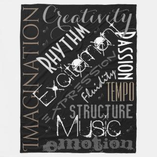 Musikalische Inspiration, Schwarzes, weiße Fleecedecke