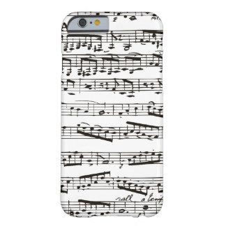 Musikalische Schwarzweiss-Anmerkungen Barely There iPhone 6 Hülle