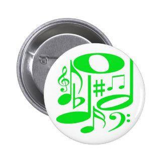 Musikalischer grüner Knopf Runder Button 5,1 Cm
